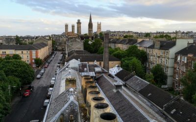 Lovely view of the Trinity spires, Glasgow