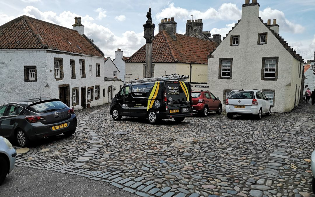 Sweeping in Outlander land, Culross, Fife.