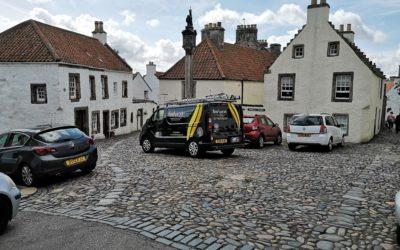Sweeping in Outlander land, Culross, Fife.